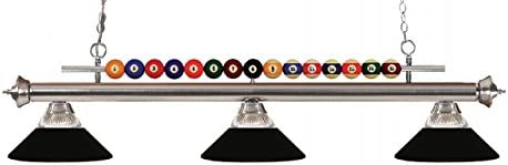 Lucent Low price 3 Oklahoma City Mall Billiard Light with Shade Ribbed Glass and Meta - Clear