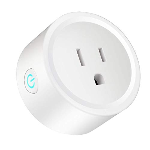 Greatangle-UK Enchufe inalámbrico Inteligente con Adaptador WiFi Control Remoto Temporizador doméstico Enchufe Monitor de energía Enchufe Intelectual Blanco EE. UU. BSD01-10A