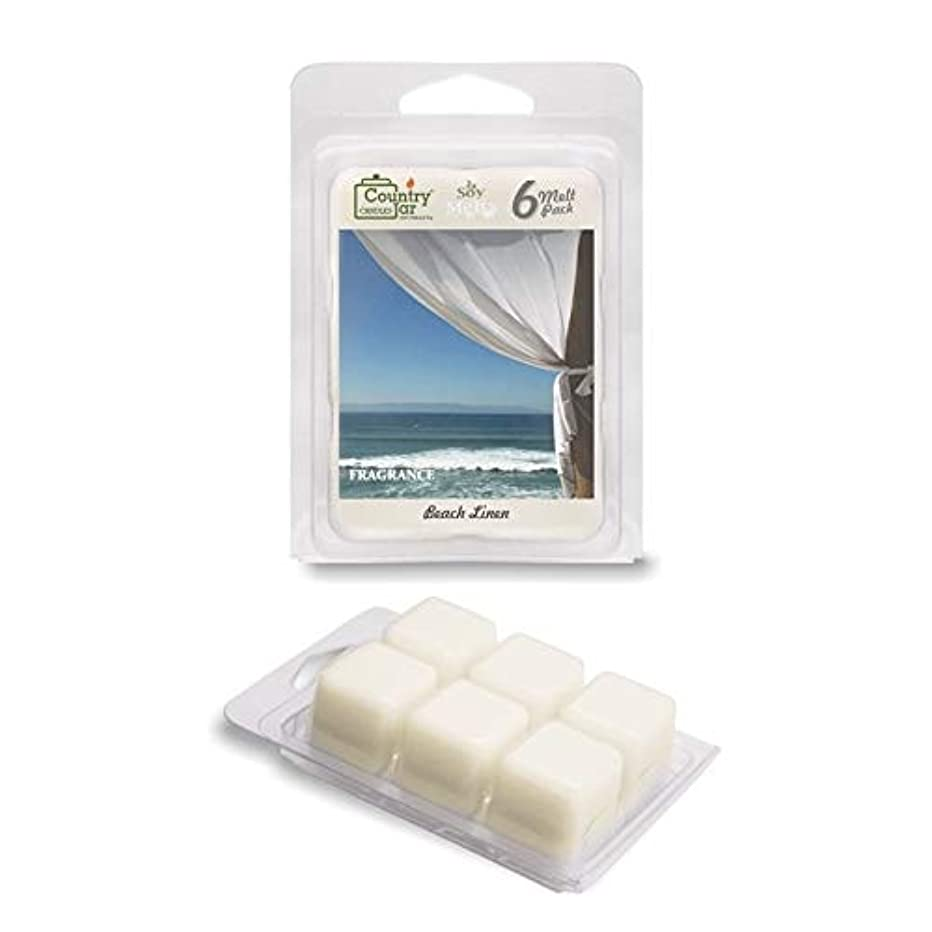 Country Jar Beach Linen Soy Wax Melts/Tarts (2.75 oz. 6-Cube Pack) Spring Pick-3 Sale! See Details.