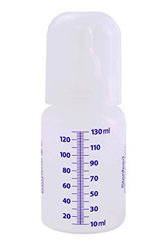 Biberon Sterile Usa e Getta Sterifeed, con Tettarella e Tappo Standard, 130ml, Confezione da 10