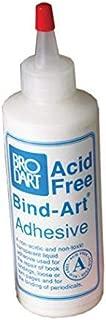 Brodart Acid-Free Bind-Art Flexible Adhesive Transparent Archival Safe Glue 4 ounces