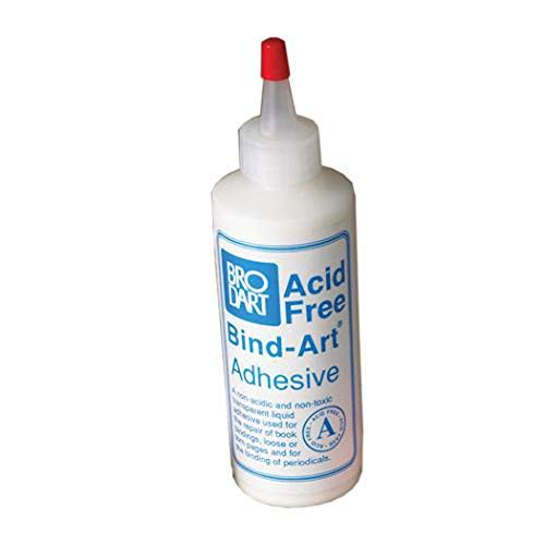 Brodart Acid-Free Bind-Art Flexible Adhesive Transparent Archival Safe Glue 4 ounces