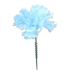 Floral Supply Online – 4.25″ Silk Carnations on Stem Pick – Featuring New Larger Bloom Size for Floral Arrangements, Weddings, Flowers, Home Decor or Office.
