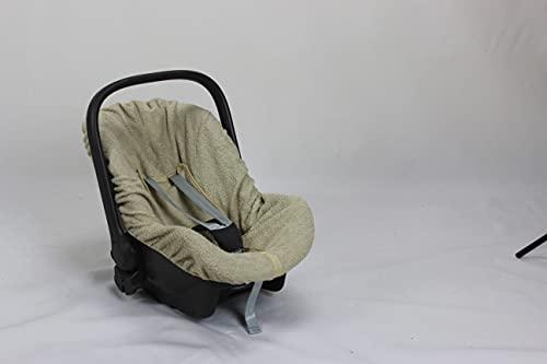 Babysanity rivestimento copri seggiolino ovetto 0-13Kg (BEIGE Doppia Spugna di COTONE)