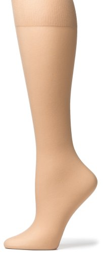 No Nonsense Women's Knee High Pantyhose with Sheer Toe, 10 P...