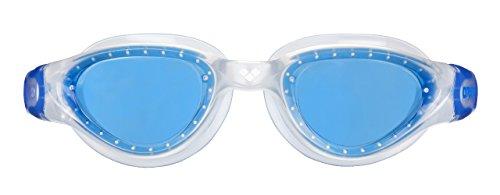 arena Unisex Training Freizeit Schwimmbrille Cruiser Soft (UV-Schutz, Anti-Fog Beschichtung, Weiche Gläser), blau (Clear-Blue-Blue), One Size