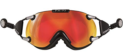 Casco Brille FX-70L Magnet-Link Carbonic, Colour: schwarz orange verspiegelt, Size: M