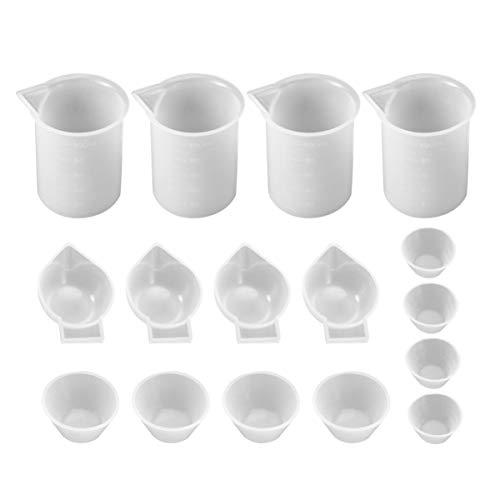 Healifty 16 Stücke Epoxy Silikon Tasse Mini Mischbecher Epoxy Silikon Werkzeuge für DIY Schmuck Machen Handwerk Liefert
