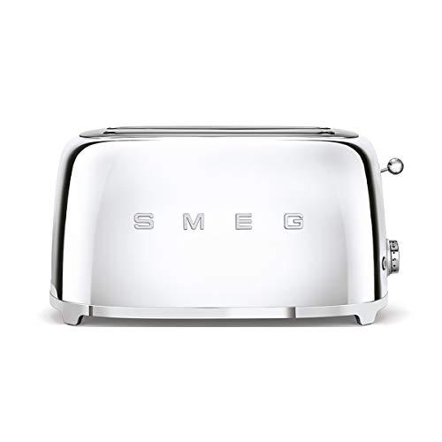 SMEG Tostador TSF02SSEU, 1500 W, Acero Inoxidable, 2 Ranuras, cromo