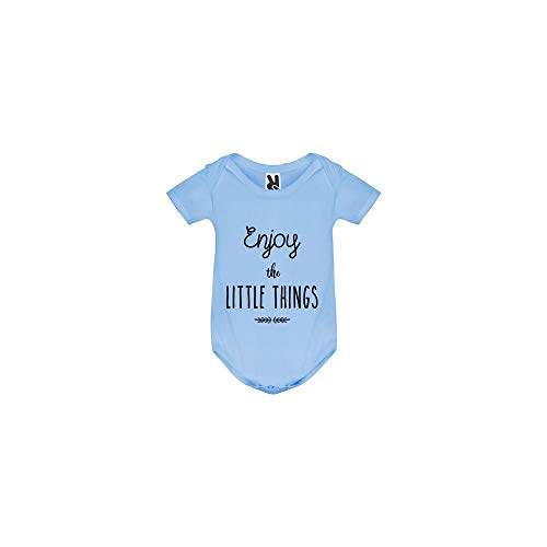 TSHIRT MK Body bébé - Enjoy The Little Things - Bébé Garçon - Bleu - 3MOIS
