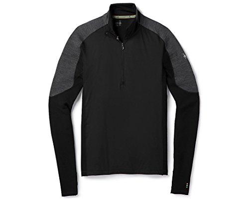 Smartwool Men's PhD Light Wind 1/2 Zip Shirt (Black) X-Large