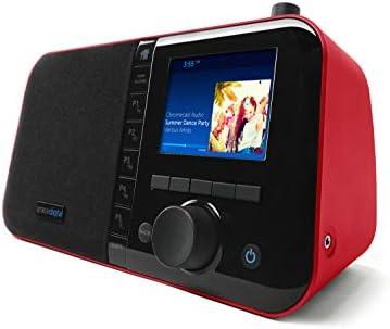 Grace Digital Mondo Elite Smart Internet Radio Bluetooth Wi Fi 7 Day Alarm Microphone Free Red product image