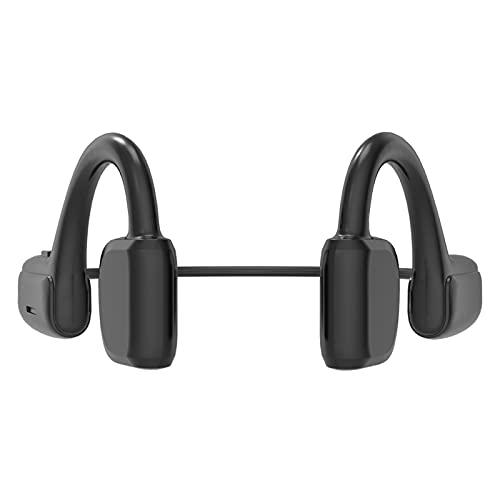 Festnight Auriculares BT 5.1 Auriculares inalámbricos Gancho para la Oreja Conducción de Aire Oreja Abierta Reproductor de MP3 Auriculares Deportivos IPX5 con micrófono para Correr Conducción