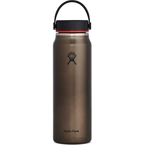 Hydroflask Unisex– Erwachsene Flex Cap Trinkflasche, Obsidian, 946 ml