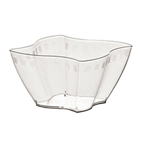 50 Stück mittelgroße Plastikbecher CC 350 für Obstsalat, Joghurt und Eis, transparent