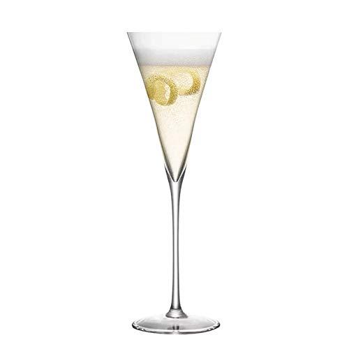 Goodvk Copa de Vino Tinto 4pcs 145ml Champagne Flaute Gafas Gafas Vidrio de Vino Tinto Decoración Elegante (Color : Clear, Size : 145ml)