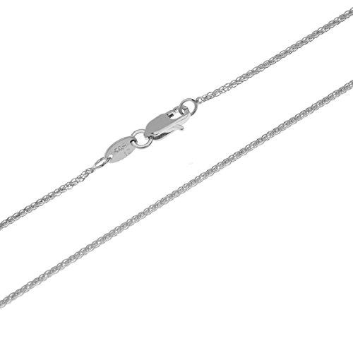 aion Goldkette Massiv Gold 585 Zopfkette Weißgold 14 Karat Halskette Herren Damen 40-60cm 1 mm (50)