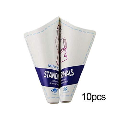 thorityau Dispositivo para orinar Femenino embudos Sanitarios portátiles para el Embudo de urinario de Viaje Discreto Ligero para Mujeres Facilitador urinario para orinar de pie