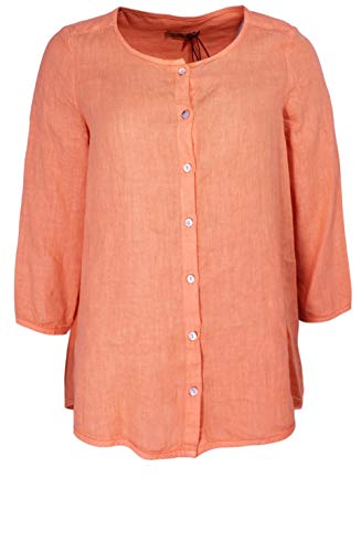Backstage Clothing Mandarin Leinen Bluse Gr. Large, mandarin