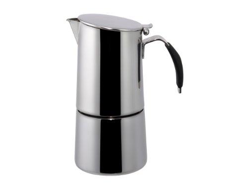 "Ilsa: Espresso Coffee Maker ""Omnia Express"" For Induction - Inox 18/10 2-Cup [ Italian Import ]"