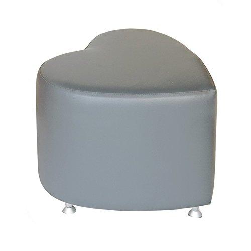 Tabouret cube avec patins en aluminium en forme de cœur Gris foncé