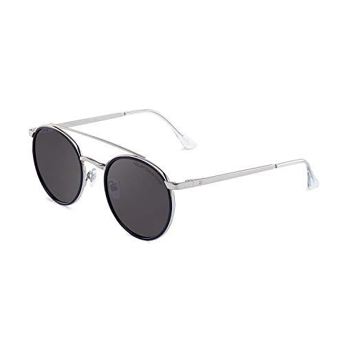 CLANDESTINE Pure Silver Navy Blue Grey - Gafas de sol Nylon HD Hombre & Mujer