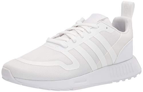adidas Originals Men's Smooth Runner Sneaker, White/White/White, 13