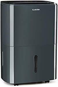 Klarstein DryFy20 Deshumidificador de Aire - Secadora de reformas, 420 W, 20 L/día, Espacio Ideal: 40-50 m², Filtro Nylon, DrySelect, Modo silencioso, 45 dB, Antracita