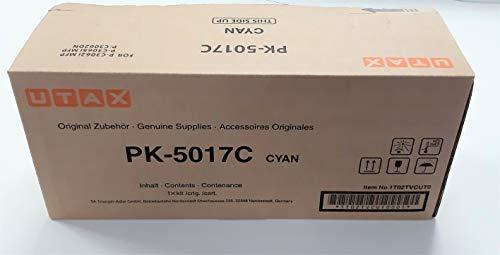 Original Utax 1T02TVCUT0 / PK-5017 C, Premium Drucker-Kartusche, Cyan, 6000 Seiten