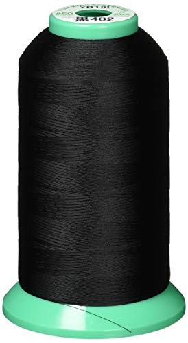 FUJIX(フジックス) 業務用 キング ポリエステル ミシン糸 50番 普通地 3000m col.402 黒