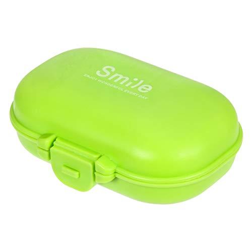 BESTOMZ Portapillole Porta Pastiglie Pillole Contenitore Pillole Organizzatore 4 Scomparti (Verde)