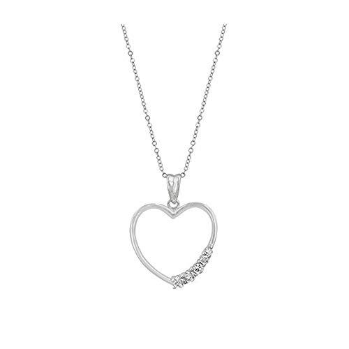 Isady–Bibiane–Halskette–Zirkonia–Herz–Chaine enthalten