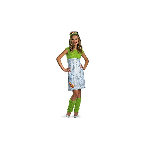 Sesame Street Oscar The Grouch Dress Costume Teen 10-12