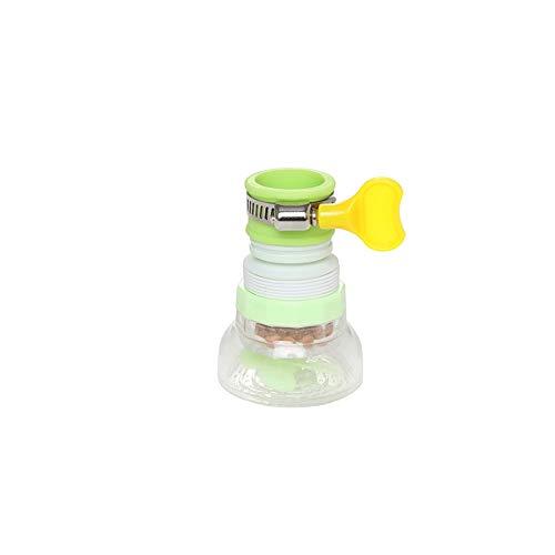 Finoki - Grifo de cocina, extensor creativo, alargador, ahorro de agua, aireador ajustable, evita salpicaduras, color verde