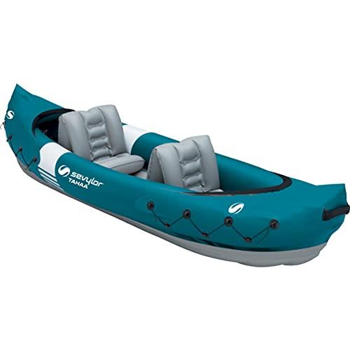 Azard Canoa Gonfiabile 2 posti Mare Adulti in PVC Kayak canotto da Pesca Lago
