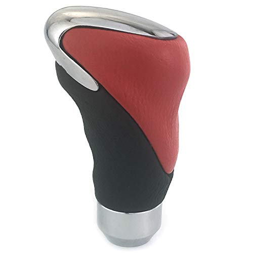 Thruifo Gear Stick Shift Knob Rose Style MT Car Shifter Handle Fit Most Manual Automatic Vehicles Red