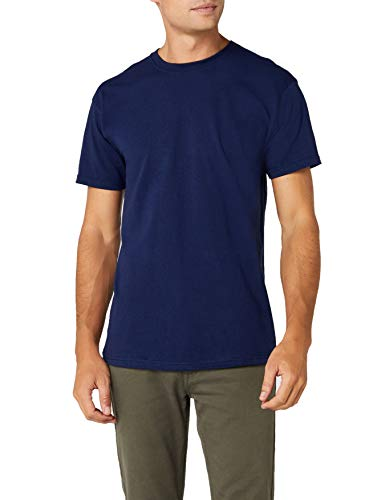 Fruit of the Loom - T-shirt - Regular - Col rond - Manches courtes Homme, Bleu (Navy), Small