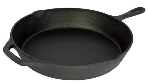 Buckingham Cast Iron Pre-Seasoned Skillet, Frying Pan 31 cm x 46 cm for Healthy Cooking - Premium Quality, 30068