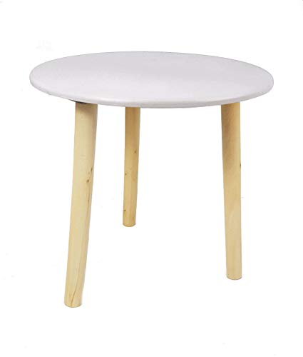 Deko Holz Tisch 30x30 cm - Farbe: weiß - Kleiner Beistelltisch Couchtisch Sofatisch Blumenhocker