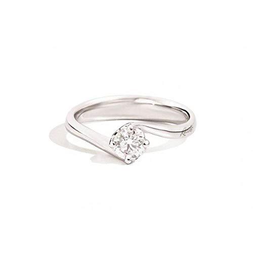 Anello Solitario Anniversary Recarlo Kt. 0,23 Diamante E Oro Bianco