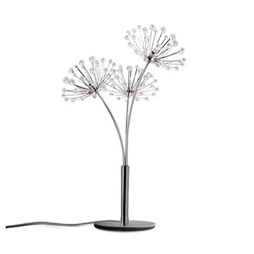 WEI-LUONG Iluminación decorativa, Reading lámpara- de noche y lámparas de mesa Lámpara simple mesa de cristal moderna lámpara de diente de león lámpara de cabecera Habitación Sala de Estudio del regal