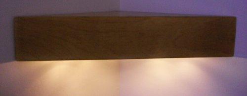Crafted Storage Licht Eiche handgefertigt aus Holz Schwebendes Eckregalbrett Ablagen mit weichen,...