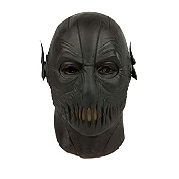 Trippy Lights Black Zoom Super Villain Super Hero Overhead Latex Mask