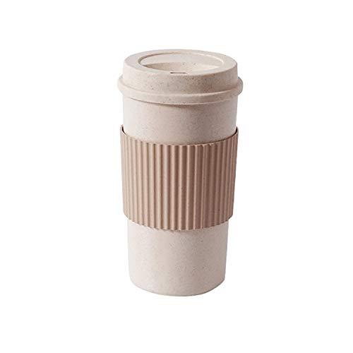 XGQ Portátil al Aire Libre Comida campestre del Recorrido Slip Aislamiento Aislado de Paja Taza de café, Tamaño: 350 ml YW2629
