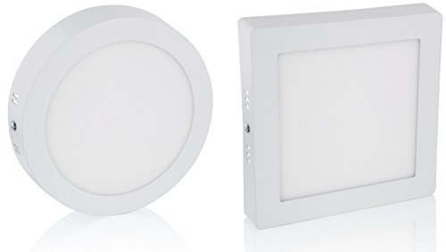 Ultraslim LED Aufbau Panel 230V - Aluminium-Druckguss (6W - eckig - kaltweiß)