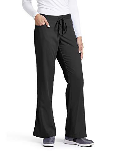 Grey's Anatomy Women's Junior-Fit Five-Pocket Drawstring Scrub Pant - X-Large - Black