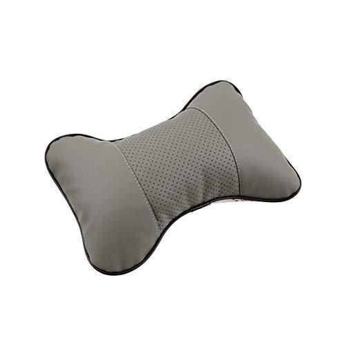 Ba30DEllylelly Almohada universal para reposacabezas con forma de hueso sólido, tela de cuero PU transpirable, cojín para reposacabezas para el cuello del coche, accesorios interiores para automóviles