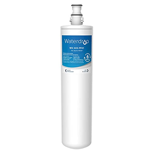 Waterdrop 3US-PF01 Under Sink Water Filter, NSF 42 Certified Replacement for Filtrete Advanced 3US-PF01, 3US-MAX-F01, 3US-PS01, 3US-MAX-S01, Manitowoc K-00337, K-00338, Pack of 1