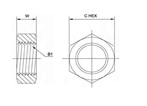 Brennan Industries 0306-04 Steel Bulkhead Lock low-pricing Tube Nut OD trust 4