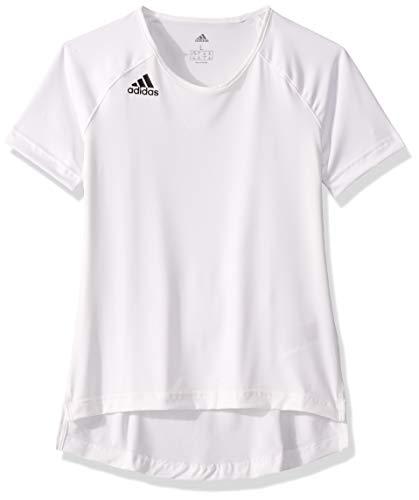 adidas unisex-youth Hi Lo Jersey White/Black X-Small